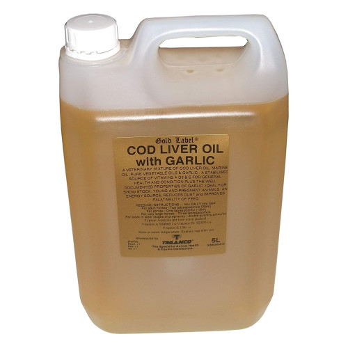 Gold Label Cod Liver Oil with Garlic 5 Litres