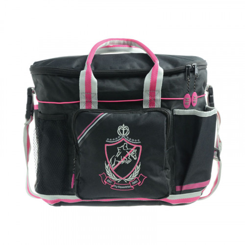 HySHINE Complete Pro Grooming Bag Black, Pink & Grey
